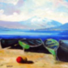 Peter Tarrant Scottish Landscape Painter Venachar Boats