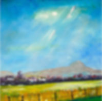 Peter Tarrant Scottish Landscape Painter Ben Lomond from the Carse of Stirling, Scotland
