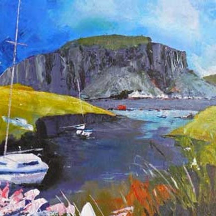 Easdale to Easdale Island - Greeting Card