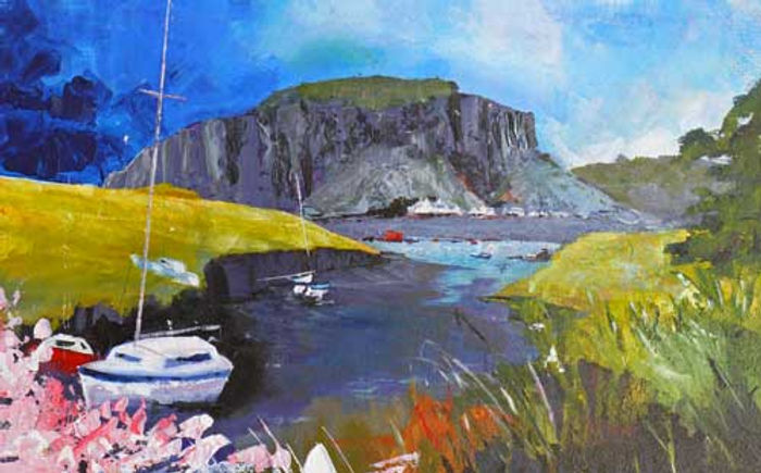 Easdale Island to Easdale Painting at petertarrant.com