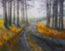 Peter Tarrant Contemporary Scottish Landscape Painter, Trossachs Walk