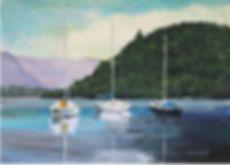 Peter Tarrant Scottish Landscape Painter Balloch Pass on Loch Lomond