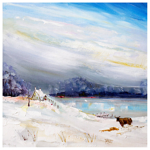 Winters Glen - Giclee print of an original painting by Peter Tarant.