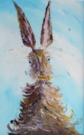 Peter Tarrant Contemporary Scottish Landscape Painter, Spooked Hare
