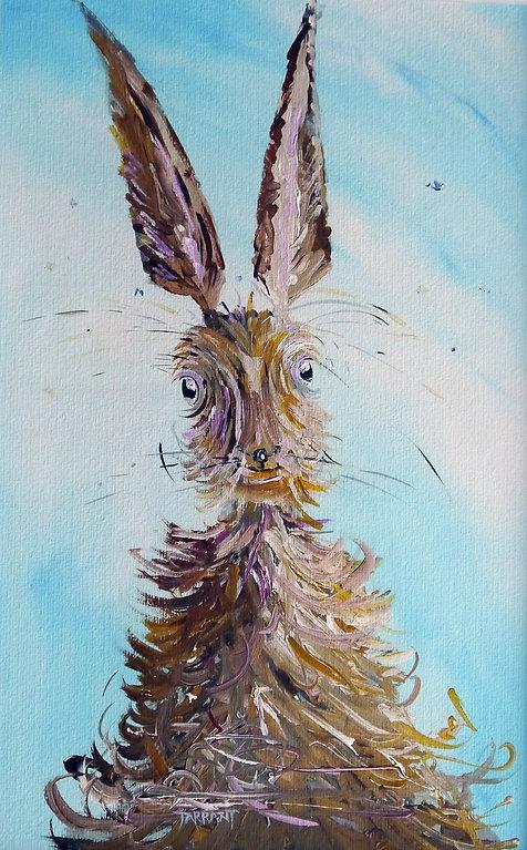 Peter Tarrant Contemporary Scottish Landscape Painter, Spooked Hare