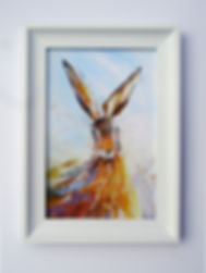 Framed canvas print of Bright Hare