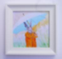 Canvas Framed Print Umbrella Hare