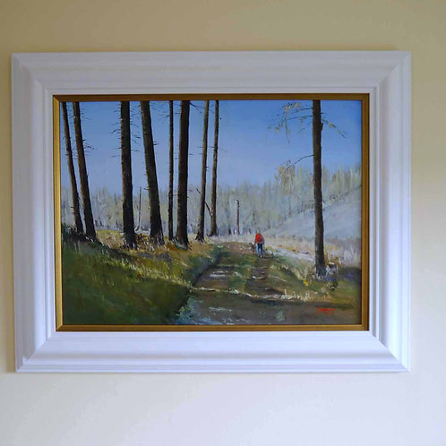 Trossachs Forest Walk - Acrylic painting on canvas.
