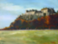 Stirling Castle painting, Peter Tarrant Contemporary Scottish Landscape Painter,