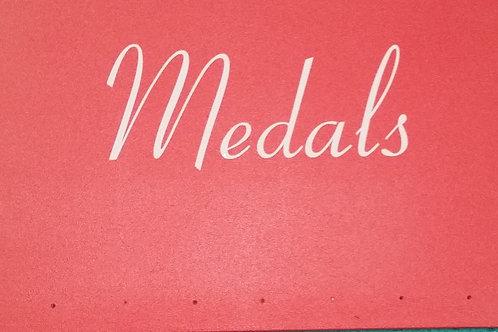 Wooden Medal Hanger In RED