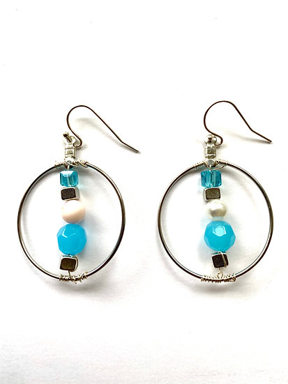 Blue Stone with round hoop