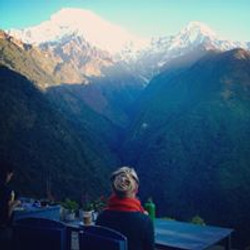 Himalayas and a fancy hairdo