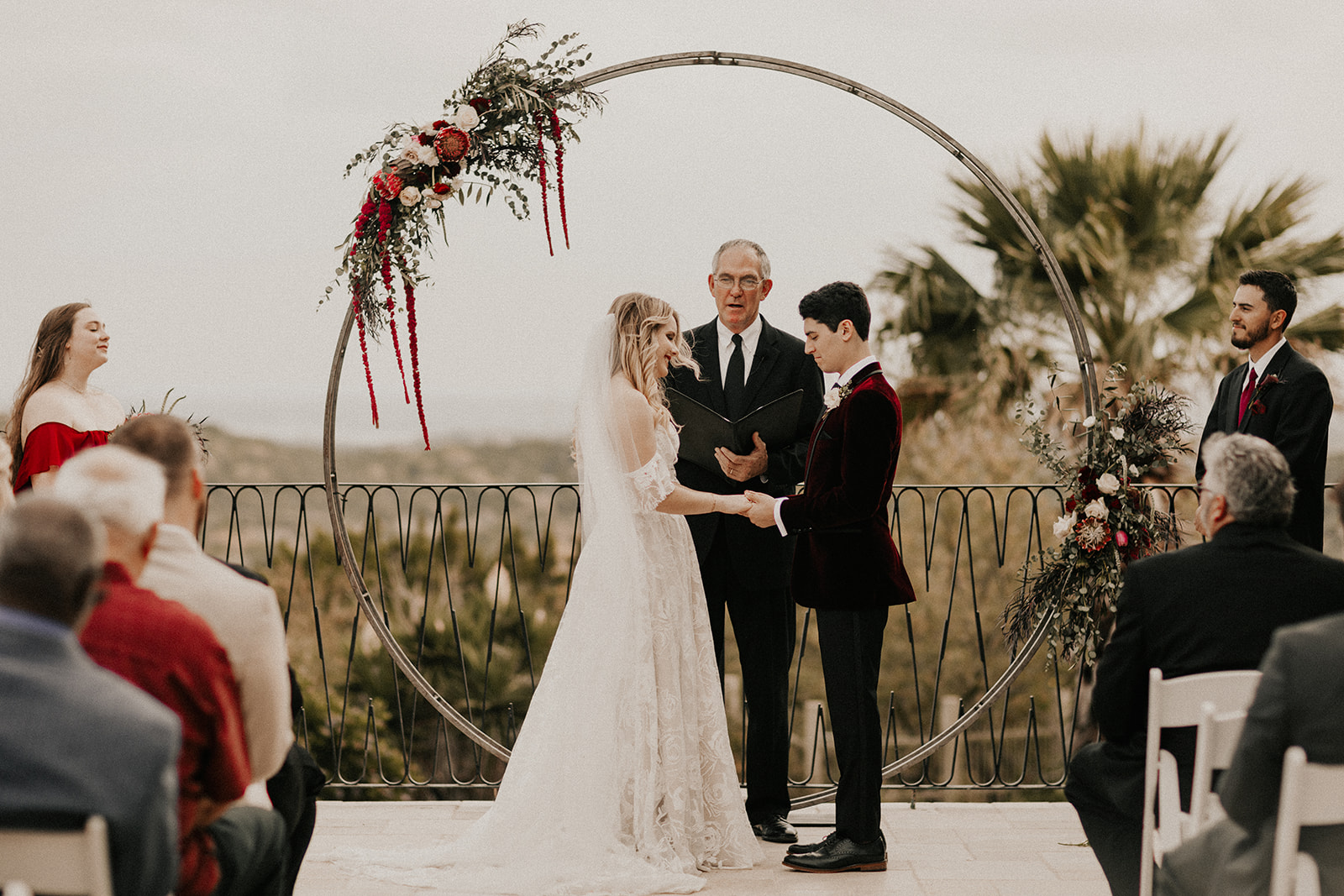Rachel and Clay at altar