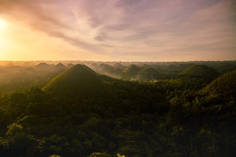 Sunrise on Chocolate Hills