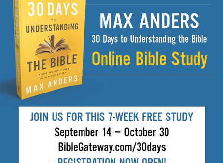 """Join the Free 30 Days to Understanding the Bible """"Online Bible Study"""""""