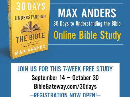 "Join the Free 30 Days to Understanding the Bible ""Online Bible Study"""
