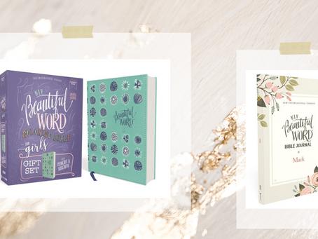 NIV, Word Coloring Bible for Girls Pencil/Sticker Gift Set & Word Bible Journal Gospel Mark