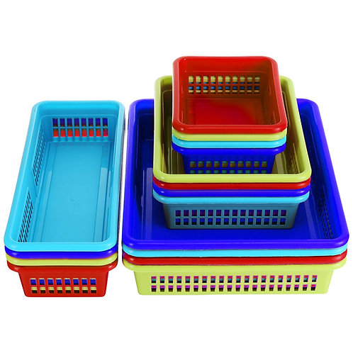 16 pack, Colorful Storage Trays (4 colors)