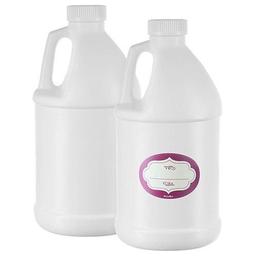 2-Pack, Large White Empty Half Gallon Jug