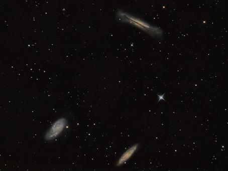 Levov triplet - trojica špirálových galaxií v súhvezdí Lev.