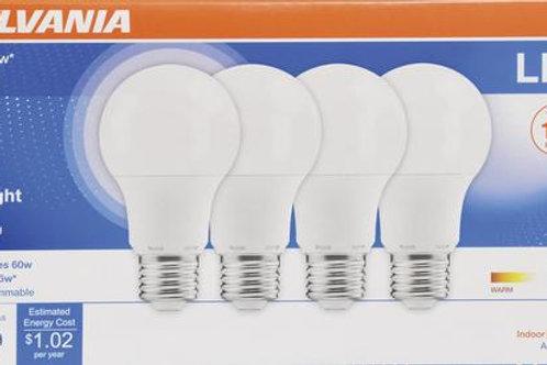 LED regular A19 Lighbulb Bright White, for any application. 850 Lumens