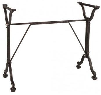 Pied de table en fonte d'acier Rétro large