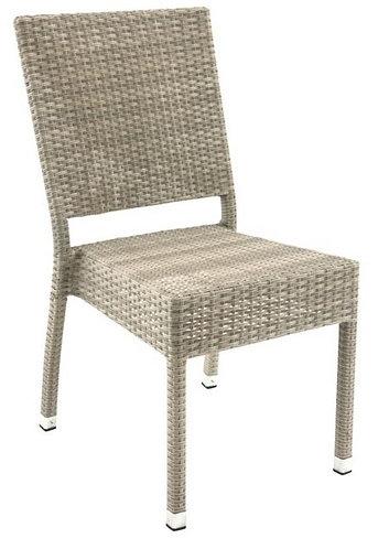 Chaise aluminium Sarah gris soie