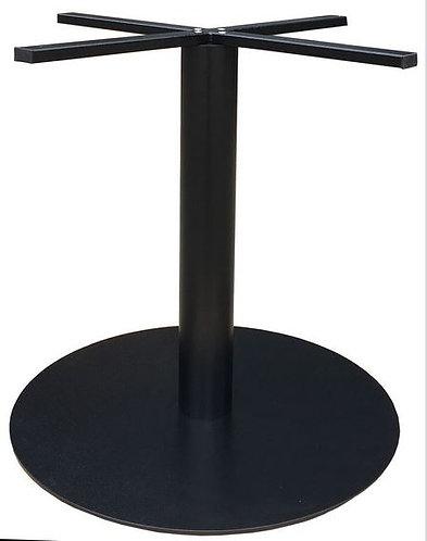 Pied Come 70 fonte d'acier noir base ronde diam 72 cm