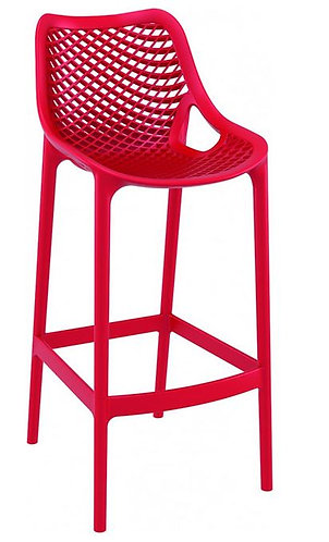 Tabouret AIR BAR 75 Monobloc polypropylène Rouge