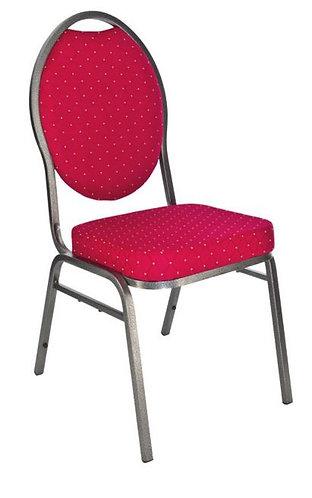Chaise daisy rouge et pois jaunes