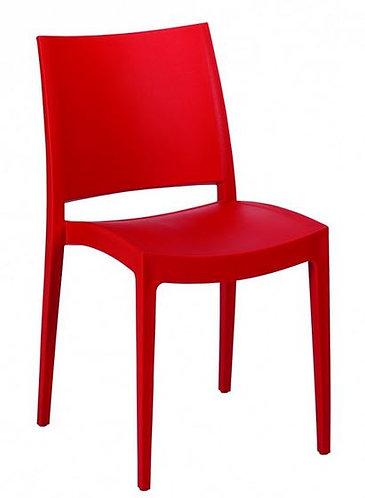 Chaise SPECTO rouge monobloc polypropylène