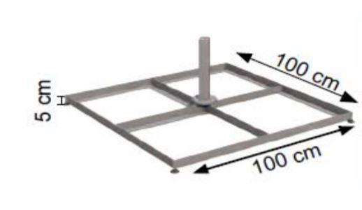 Pied de parasol acier en croix