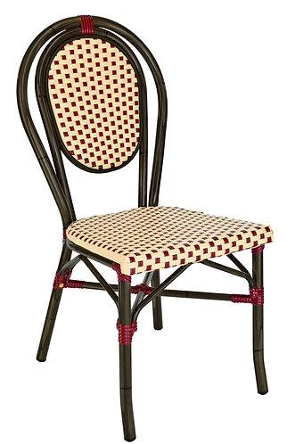 Chaise Paris bamboo bordeaux empilable
