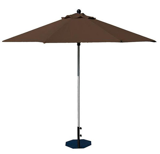 Parasol professionnel Prosun rond Ø 270 cm CHOCOLAT