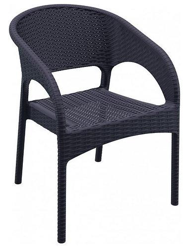 Chaise PANAMA brune empilable en polypropylène