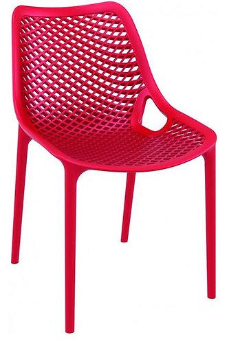 Chaise AIR Rouge Monobloc en polypropylène