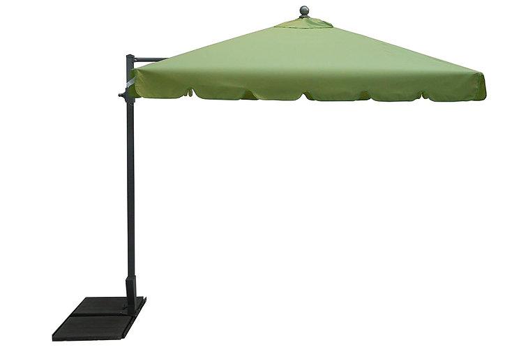 Parasol déporté Allégro 300 x 200 vert anis