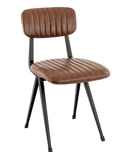 Chaise Harlem marron vintage