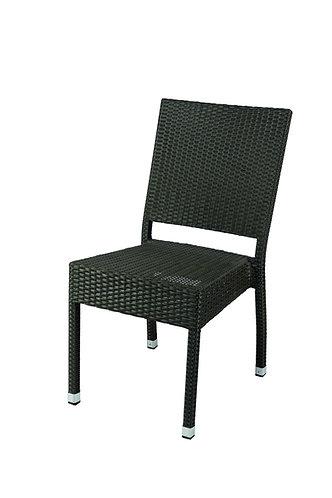 Chaise aluminium Sarah chocolat
