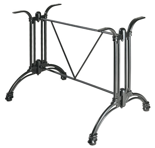 Pied de table Empire 2 aluminium forgé noir (stock)