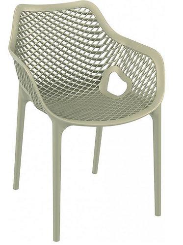 Chaise AIR XL Gris taupe en monobloc polypropylène