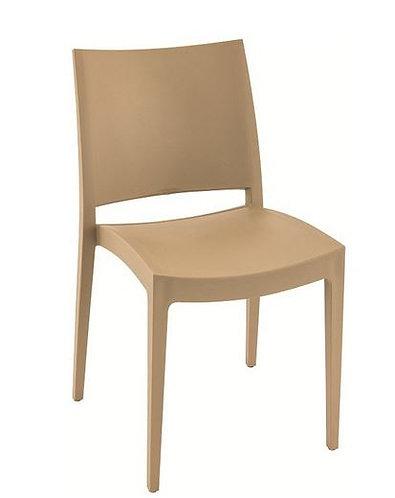 Chaise SPECTO gris taupe monobloc polypropylène