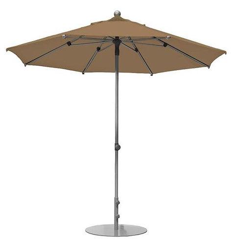 Parasol professionnel Prosun rond Ø 270 cm MARRON