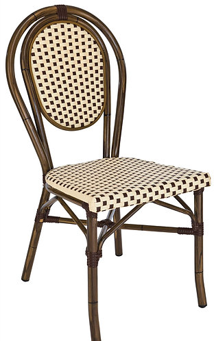 Chaise Paris bamboo chocolat empilable