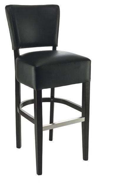 tabouret de bar floriane noir fournisseur mobilier restaurant professionnel table chaise. Black Bedroom Furniture Sets. Home Design Ideas