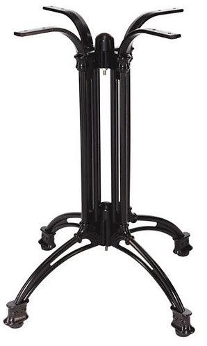 Pied de table Empire 4 aluminium forgé noir (stock)