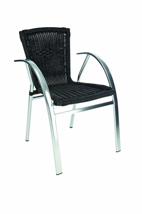 Chaise Aluminium St Tropez Noir