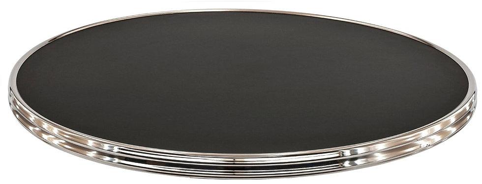 Plateau cerclé Black siyah/chrome