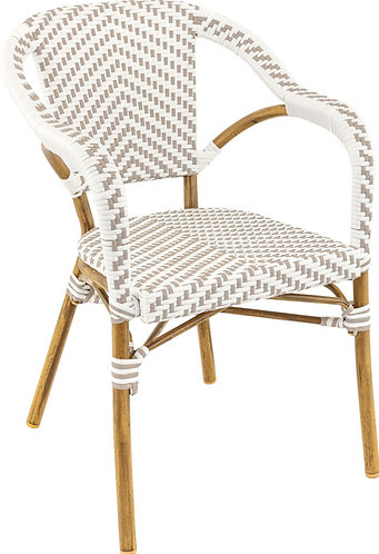 Fauteuil Madeleine gris/blanc