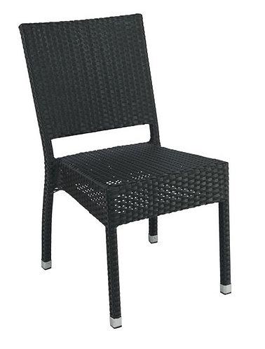 Chaise aluminium Sarah noir